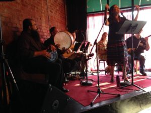 Performing with Transito, a Louisville based Ladino music ensemble.